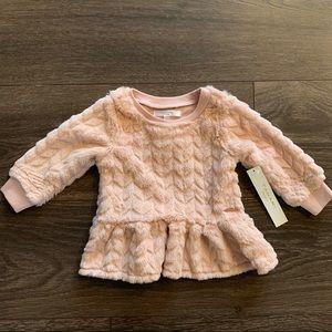 NWT Tahari Baby Plush Knit Tunic, 6/9 Month